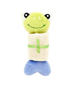 Billipets, Soft Animal Loofah And Rope Body Dog Toy,Frog