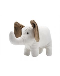 Billipets, Squeaky Natural Canvas Wool Elephant, Dog Toy For Small Medium Breed Dogs