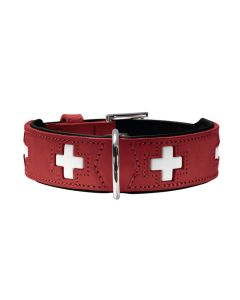 Hunter,Collar swiss, Organic leather red, Germany