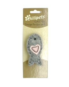 Billipets, Natural Wool Fish,Gray